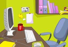 Lugar do escritório ilustração stock