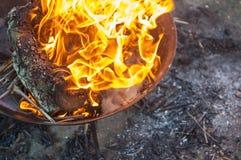 Lugar 5 do fogo Imagem de Stock Royalty Free