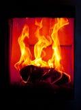 Lugar do incêndio fotografia de stock