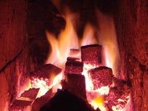 Lugar do incêndio Foto de Stock