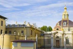 Lugar do interesse da cidade da catedral de St Petersburg da fortaleza dos apóstolos Pyotr e Pavel Fotografia de Stock