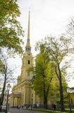 Lugar do interesse da cidade da catedral de St Petersburg da fortaleza dos apóstolos Pyotr e Pavel Fotografia de Stock Royalty Free