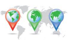 Lugar do mapa do mundo Imagens de Stock Royalty Free