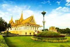 Lugar do rei do khmer de Camboja Royal Palace Imagem de Stock Royalty Free