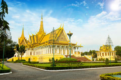 Lugar do rei do khmer de Camboja Royal Palace Fotografia de Stock Royalty Free