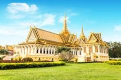 Lugar do rei do khmer de Camboja Royal Palace Foto de Stock Royalty Free