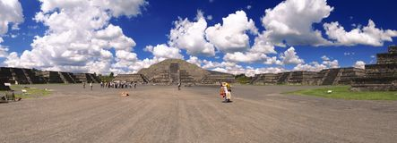 Teotihuacan Mexico Pyramid of the moon. Lugar donde los hombres se vuelven dioses. Place where men become gods. Pirámide de la luna. Pyramid of the moon Royalty Free Stock Images