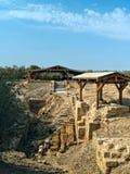 Lugar en donde bautizaron a Jesús en Bethany, Jordania Imagen de archivo