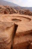 Lugar en el Petra antiguo, Jordania del sacrificio Imagen de archivo libre de regalías