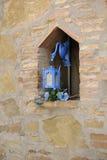 Lugar en la pared con la linterna Fotografía de archivo