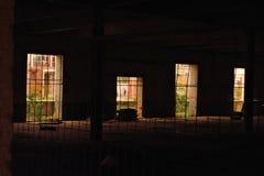Lugar escuro vazio desolado foto de stock