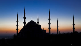 Lugar famoso, arquitetura, abóbada, ilustração, Islã Ilustração Stock