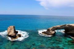 Lugar famoso del viaje en el mar Mediterráneo foto de archivo
