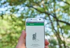 Lugar frequentados app de Google Imagem de Stock Royalty Free