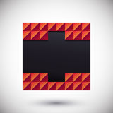 Lugar geométrico abstrato Fôrma abstrata Imagens de Stock