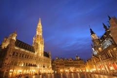 Lugar grande, Bruxelas Fotos de Stock Royalty Free