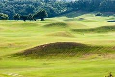 Lugar hermoso con color verde agradable, Taiwán del golf Fotos de archivo libres de regalías