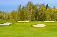 Lugar hermoso del golf. Imagenes de archivo