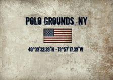 Lugar histórico de Polo Grounds idoso em NYC fotos de stock royalty free