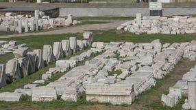 Lugar histórico del ágora Foto de archivo