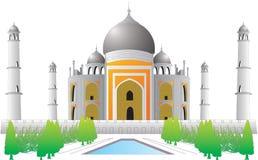 Lugar histórico indio del vector de Tajmahal Imagen de archivo