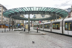 Lugar Homme de Fer em Strasbourg, França Fotografia de Stock