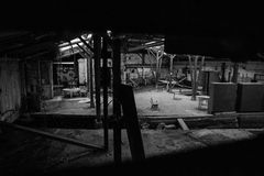 Lugar industrial velho na deterioração Fotos de Stock Royalty Free