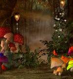 Lugar mágico en el bosque stock de ilustración