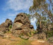 Lugar místico de la roca-uno de la ejecución en Australia, Victoria imagenes de archivo