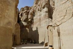 Lugar muy atractivo a viajar a las montañas de Al Qarah imagen de archivo