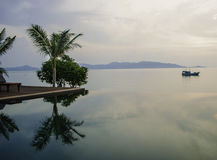 Lugar muy reservado a relajarse en la bahía de Bengala Fotografía de archivo