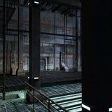 Lugar oscuro y asustadizo en una configuración del scifi Fotos de archivo libres de regalías