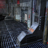 Lugar oscuro y asustadizo en una configuración del scifi Imagenes de archivo