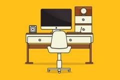 Lugar ou escritório de trabalho Fotos de Stock Royalty Free