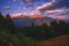 Lugar pacífico en las montañas de Georgia imagen de archivo