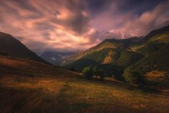 Lugar pacífico en las montañas de Georgia Foto de archivo libre de regalías