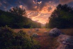 Lugar pacífico en las montañas de Georgia Imagen de archivo libre de regalías