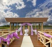 Lugar para la boda foto de archivo
