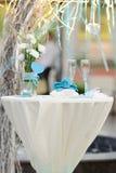 Lugar para la ceremonia de boda Fotografía de archivo libre de regalías