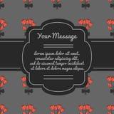Lugar para o texto com flores Frame de lamentação Cartão fúnebre Imagens de Stock Royalty Free