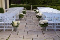 Lugar/pasillo al aire libre de la boda Fotos de archivo libres de regalías