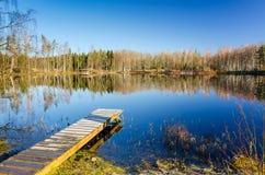 Lugar perfecto de la pesca de la primavera Fotografía de archivo libre de regalías
