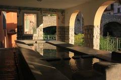 Lugar que se lava antiguo típico, Francia Fotografía de archivo