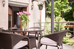 Lugar a relaxar no terraço Imagem de Stock