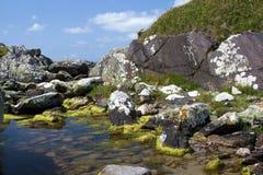 Lugar reservado en la playa - anillo de Kerry Imagenes de archivo