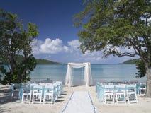 Lugar romántico de la boda Foto de archivo libre de regalías