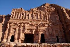Lugar romano en el Petra Foto de archivo