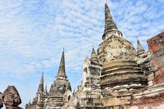 Lugar sagrado en Ayutthaya, en Tailandia Imagen de archivo libre de regalías