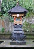 Lugar sagrado para las ofrendas en Bali Fotografía de archivo