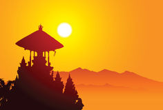 Lugar santo en Bali stock de ilustración